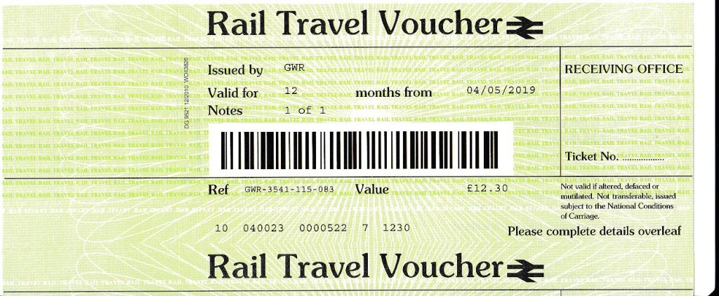rail travel voucher